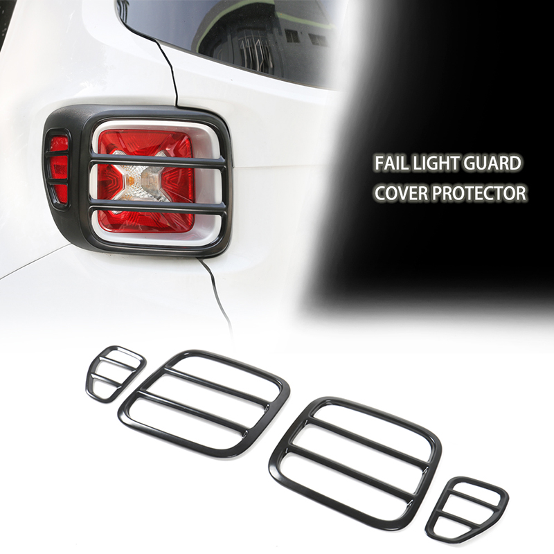 Iron Tail Light Lamp Cover Rear Taillight Guard fit for Jeep Renegade 2015-2017
