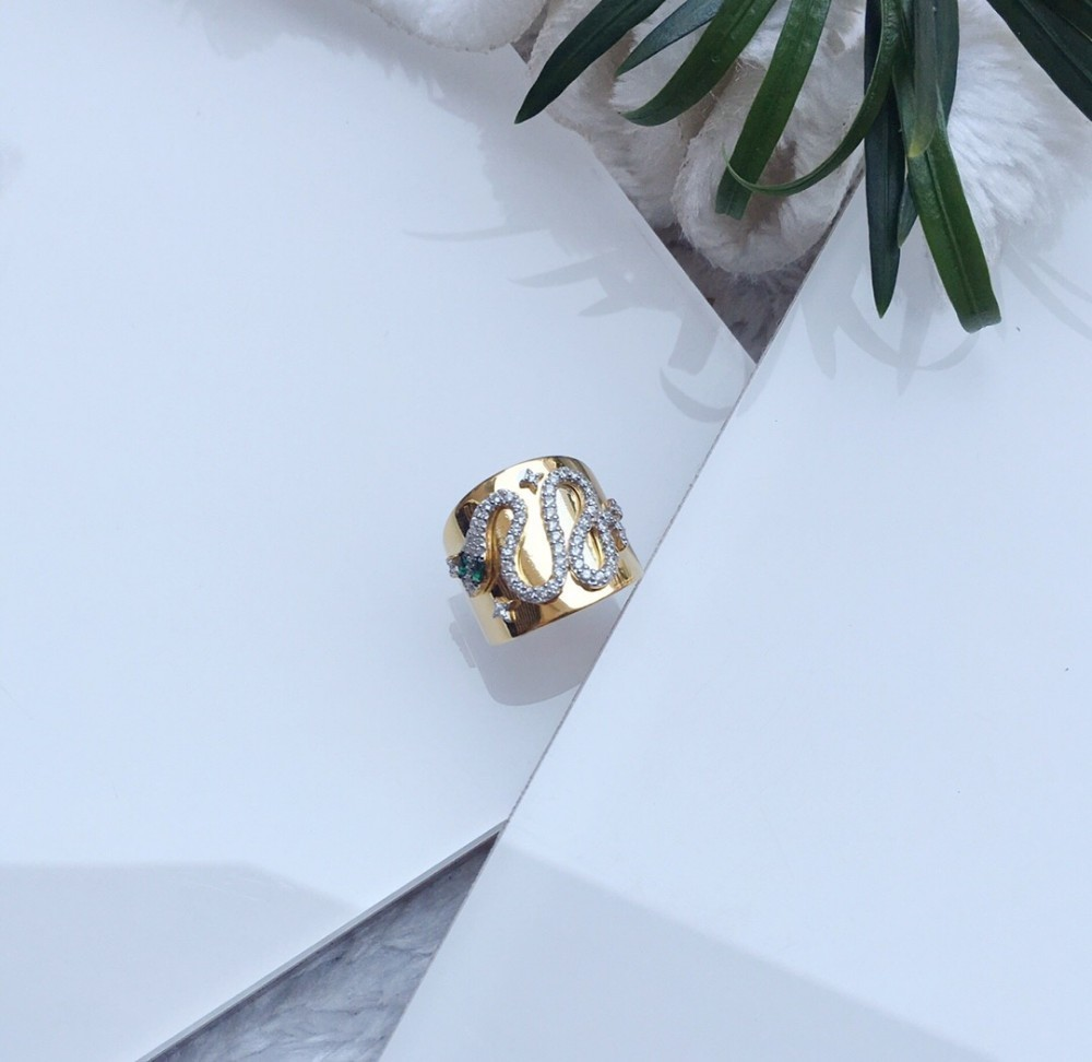 rings for women ring snake snake silver inlaid diamond fashion personality index ring ring gold vintage jewelry 2019 new