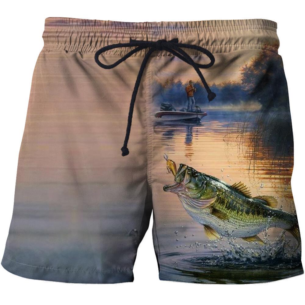 Mens Quick Dry Beach Shorts Swim Trunks Magic Mermaid Fish Scales