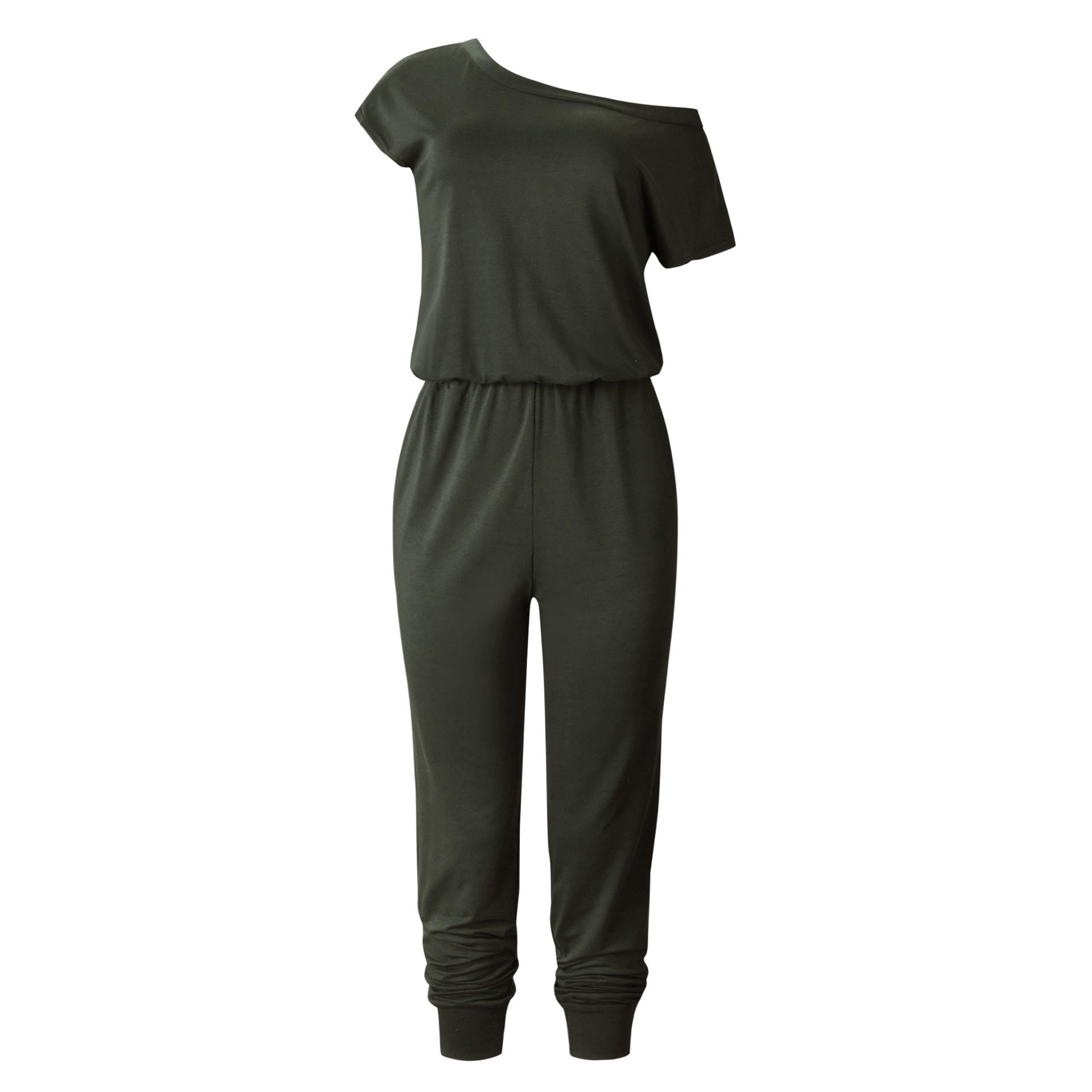 Yaz Boho Tulum Kısa Kollu Streetwear Rompers Bayan Tulum Rahat Kadınlar Için Bohemian O Boyun Tulumlar 2019 SJ1849R