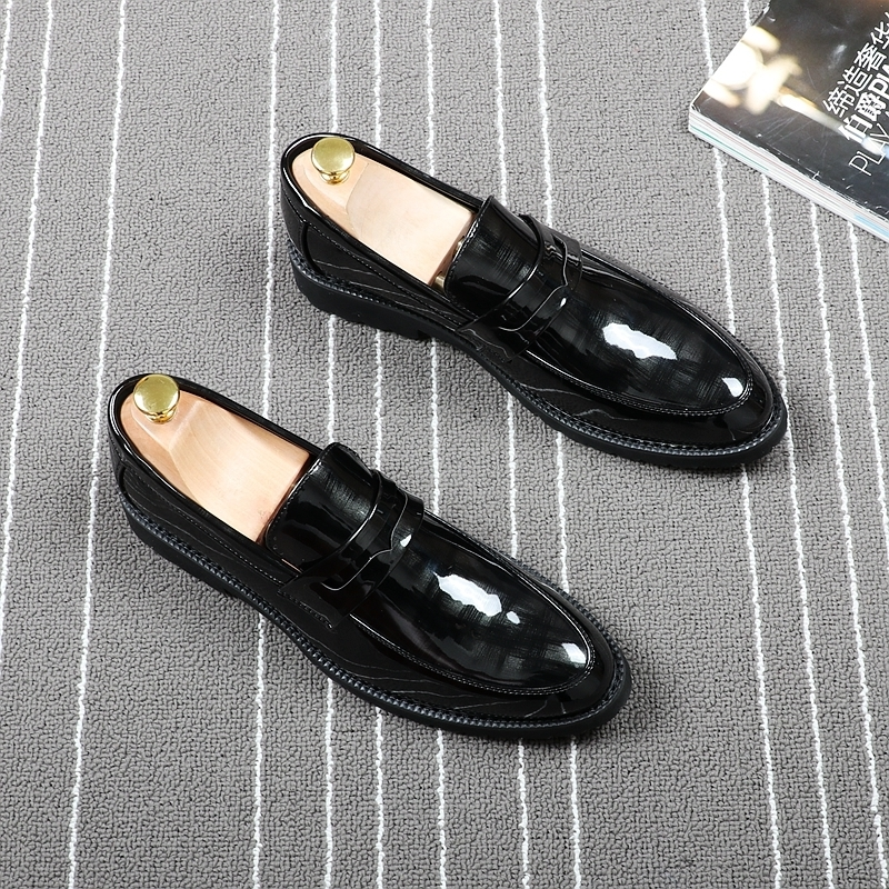 Memorable2019 Sharp Set Foot Dawdler Le Fuxie Hairstyle Division Leather Shoes Within Increase Trend Pearlite Layer Male Shoe