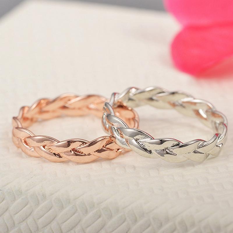 flexible 925 plata amarillo dorado dedo joyas Anillo Anillo de mujer espiral