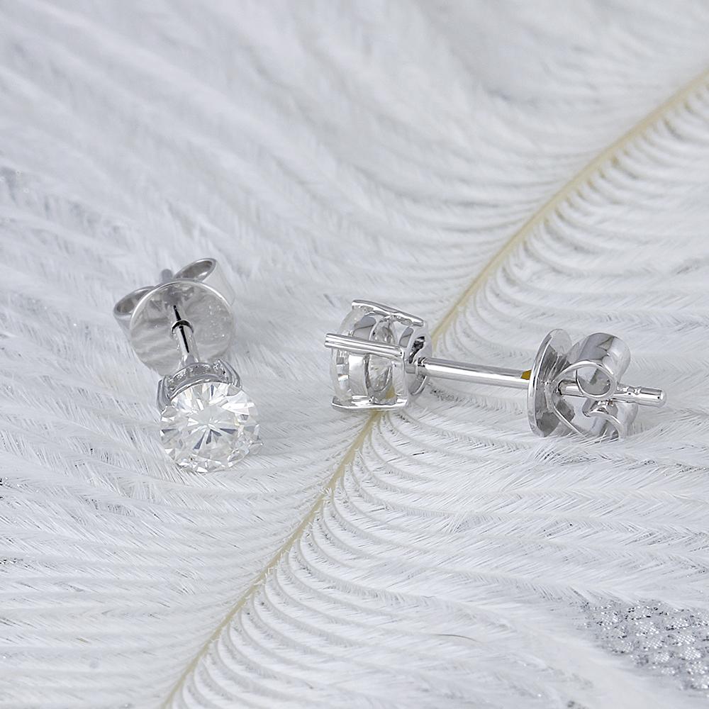 moissanite earring stud (2)