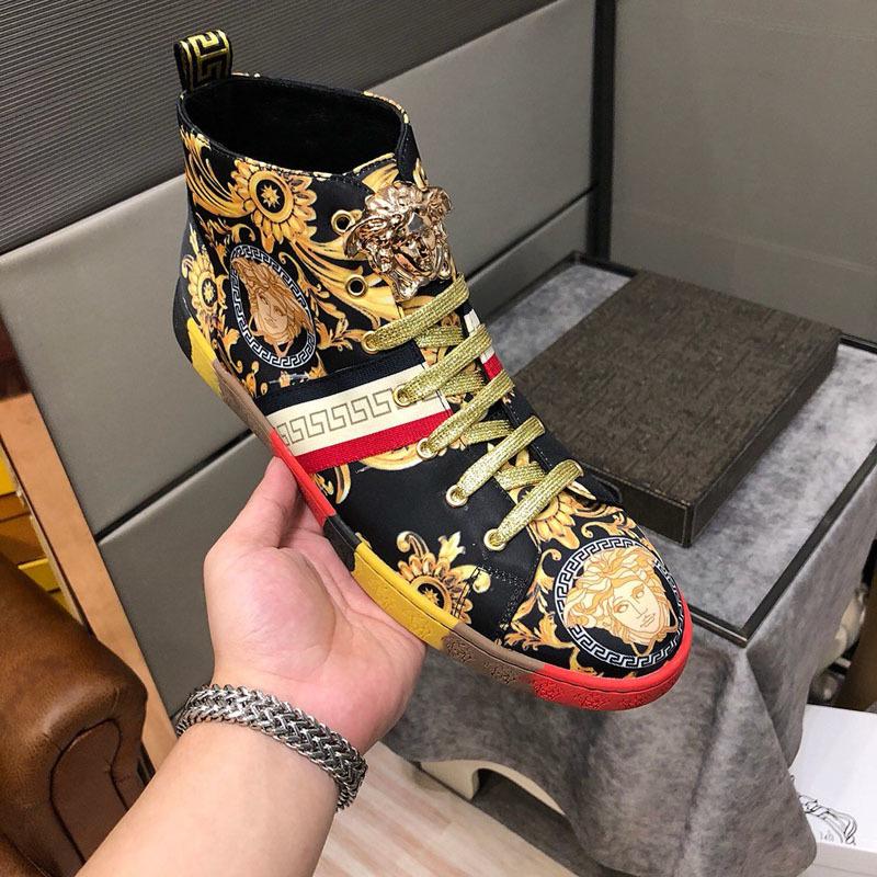 2019QN новых мужчин на случайные спортивные туфли высокие, чтобы помочь Камуфляж роскошных мужчин проездной спортивной обуви оригинальной коробке упаковки быстрая доставка