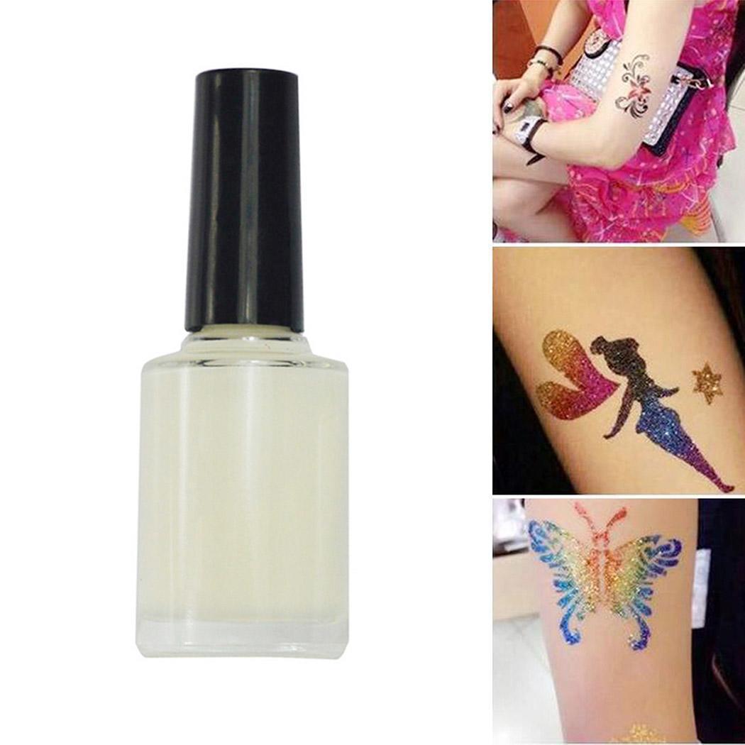 Colle White Glitter Tattoo Body Art de la mode pour la mode Tatouage temporaire White Glitter Tattoo colle