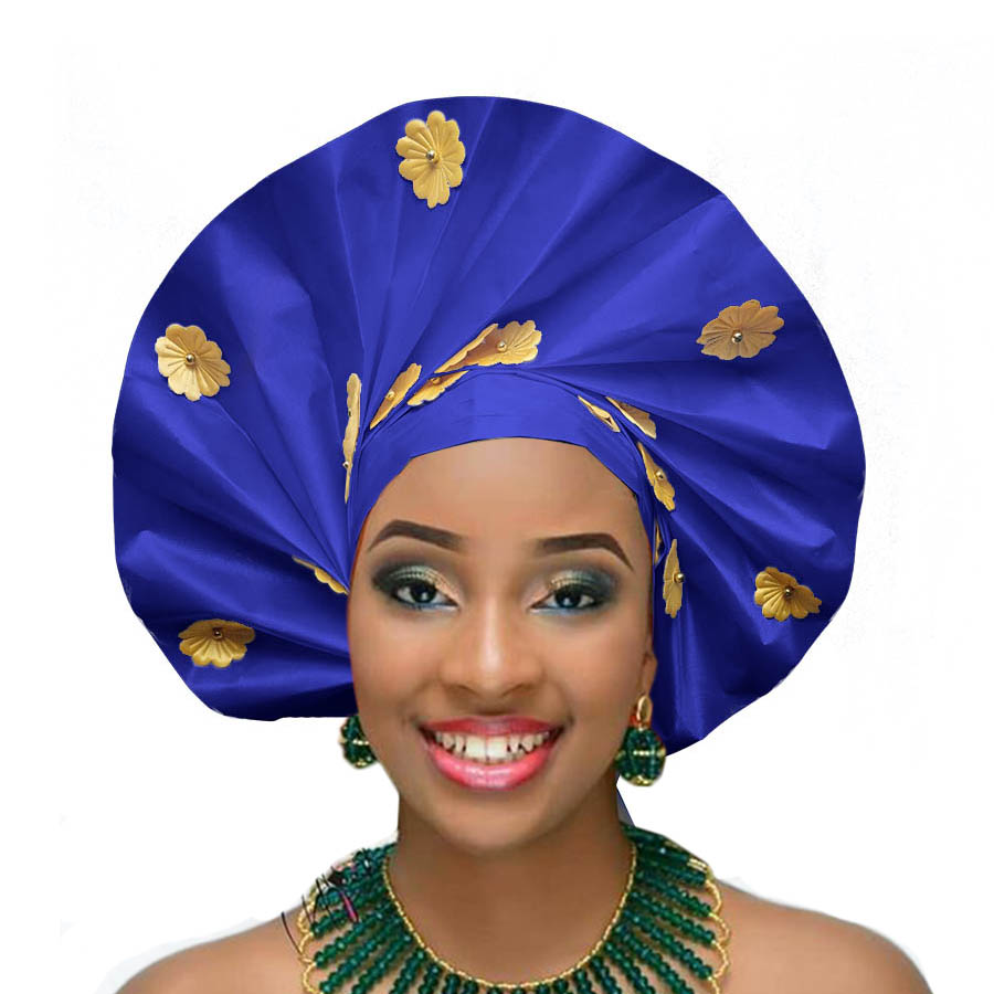 2018 african headtie wraps aso oke gele nigerian headwear asobi headdress african turban (1)
