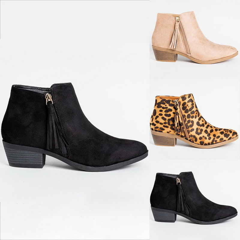 Lasperal Chic Summer Women Shoes Return High Heel Ankle Boots Female Block Mid Heels Casualal Booties Women Booties Feminina