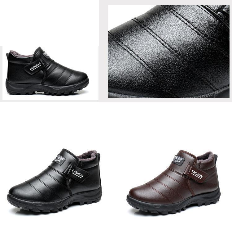 2018 Yeni Erkekler Boots Kış Kadife Sıcak Kar Botları Ile Erkekler ayakkabı Ayakkabı Moda Erkek Kauçuk Kış Ayak Bileği Çizmeler Iş Ayakkabıları