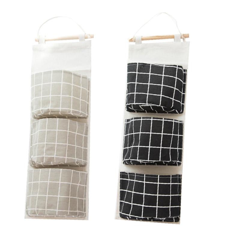Ieve Tissu de coton Sac de rangement mural Porte de placard /à suspendre Sac de rangement Sac de rangement pour chambre denfant//porte organiseur /à suspendre avec poches Sac de rangement organiseur