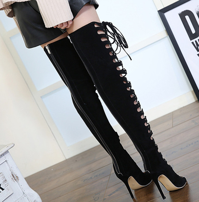 Charming2019 Street Bandage Crossing Time Hollow Out Toe Sexy Nightclub Go Excellent Shoes Long Canister High Fine With Woman Cool Boots