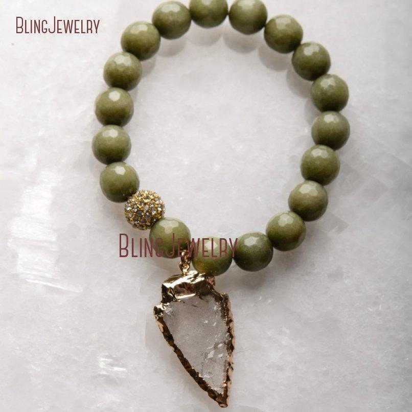 20181201-BM17426-Latest Arrowhead Clear Crystal Bracelet On Sale_17