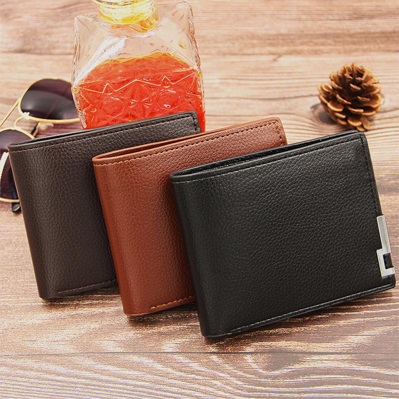 REAL LEATHER ID titolare della carta di credito Portafoglio Slim Case Tascabile in Contanti Portafoglio Borsa