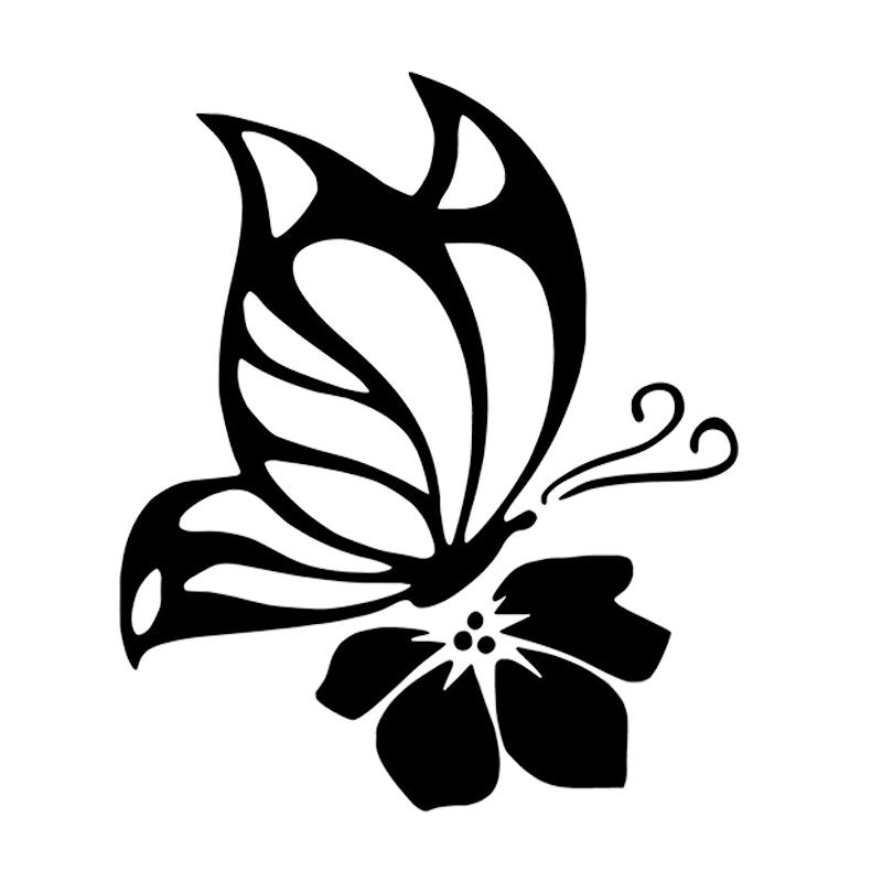Personalizado Rojo Floral Mariposas bastante Autoadhesivas Etiquetas de Dirección x 260