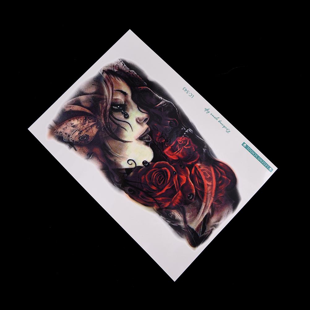 2017 New 1 Sheet Large Body Art Arm Sleeves Temporary Beauty Girl Tattoo Sticker Fake Tatoo For Men Women