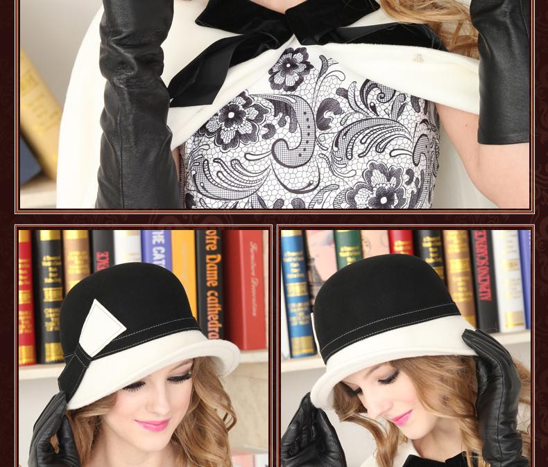 wool felt women fedora hat