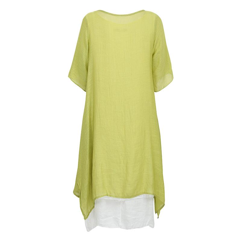 Easehut Elegant Boho Plus Size Dress Literary Style Cotton Linen Beach Holiday Midi Loose Summer Dress 2019 Vestidos Y19051102
