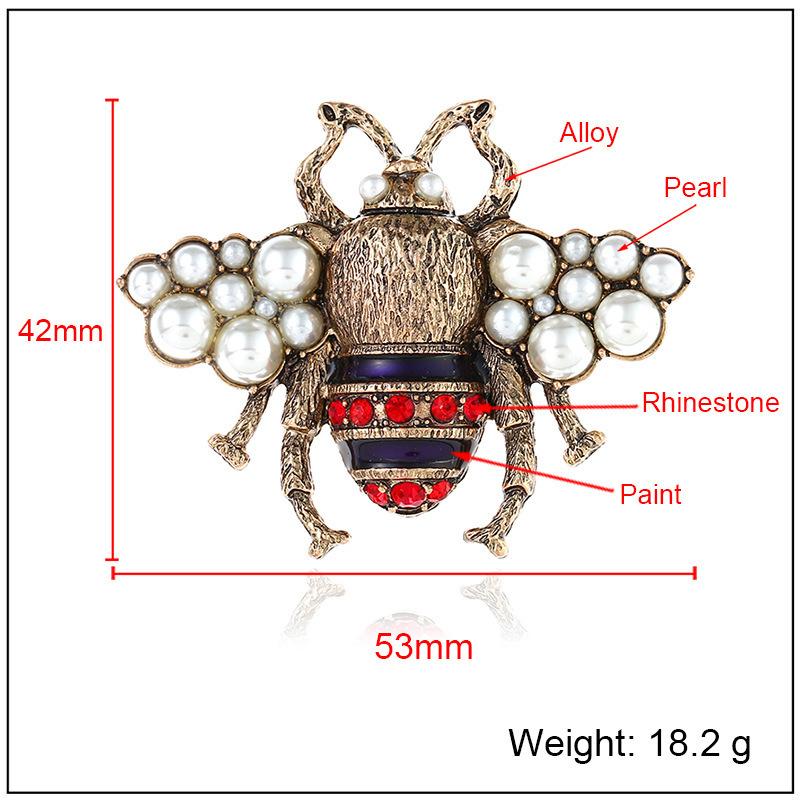 Moda aşk tasarımcı düğün gelin aksesuarları takılar Broş Inci Pin kadınlar için Güzel Arılar Broş Takı setleri erkekler