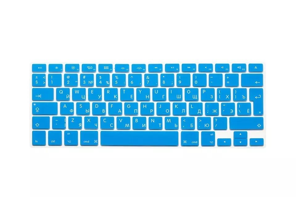 EU US Soft Silicon For Macbook Air 13 A1466 Keyboard Cover Russian Language Cover For Macbook Air 13 Retina13 Keyboard Cover (3)