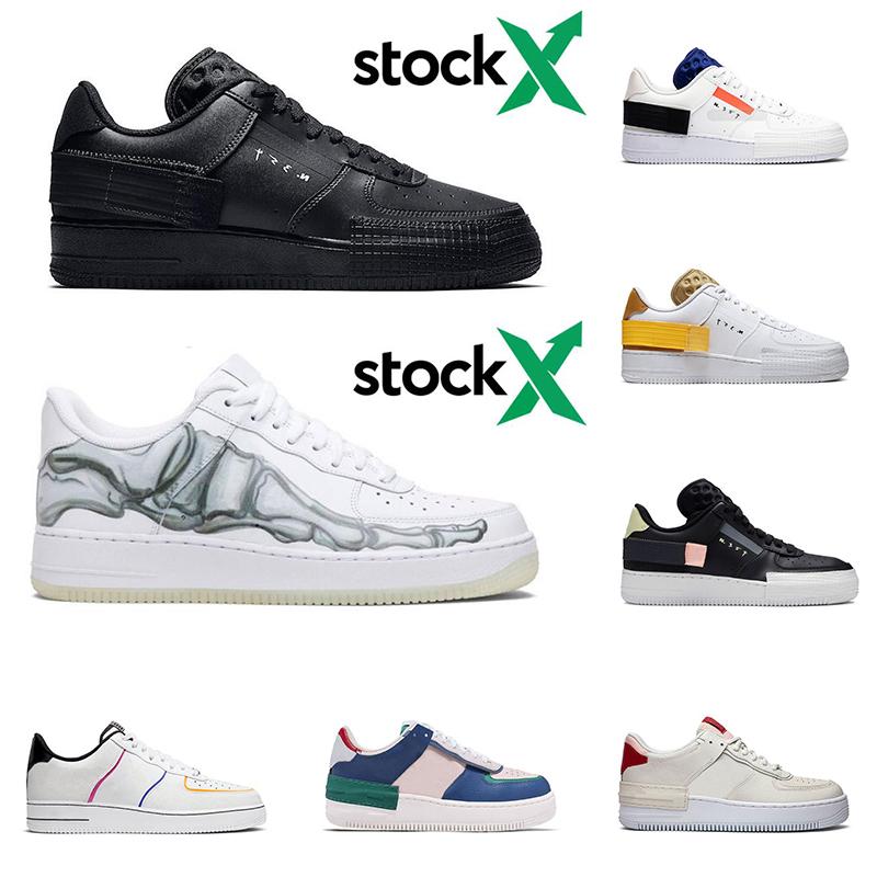 Novo Nike Air Force 1 Gtx Preto//Azul//Transparente Cerâmica Gore-Tex Shoes c1
