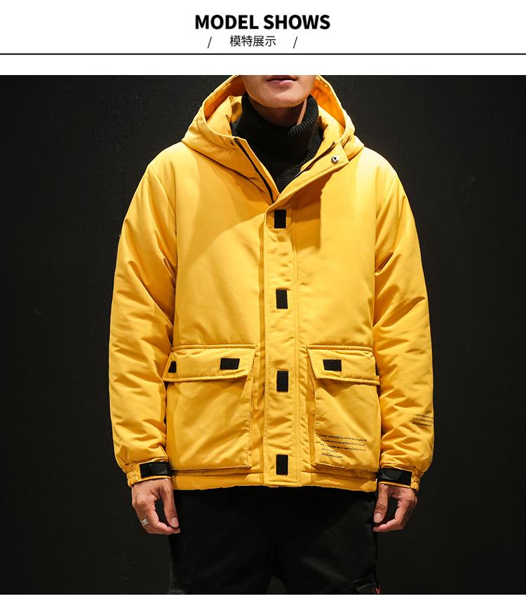 2018 Nuova giacca invernale con cappuccio Uomo Moda Solido Addensare Inverno caldo Parka Giacca e cappotto da uomo Cappotto maschile Plus Size 4XL 5XL
