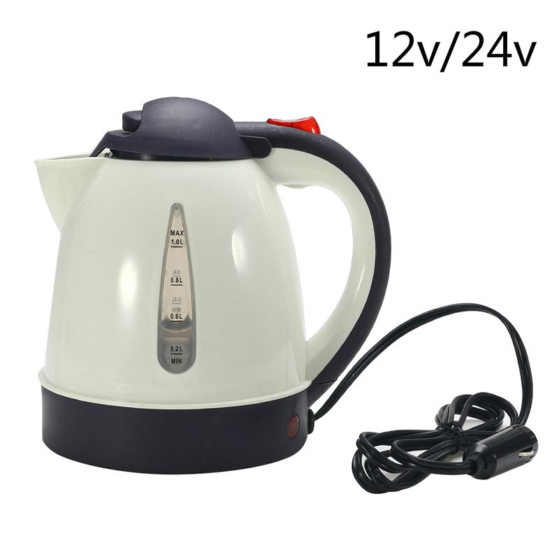 12V bouilloire portative de chauffe-eau de bouilloire de camion de voiture de grande capacit/é pour le voyage Pot deau chauff/é par voiture 1300ml