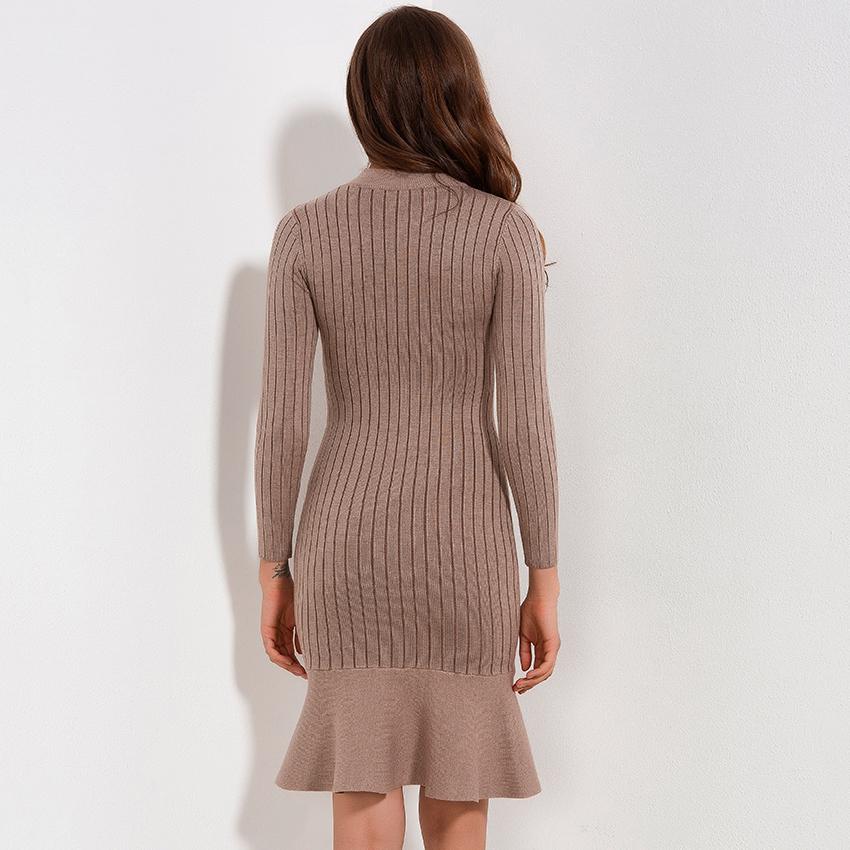 f9aa3359e62df 2019 Ruffle Sweater Dress Autumn Winter 2018 New Arrivals Long ...
