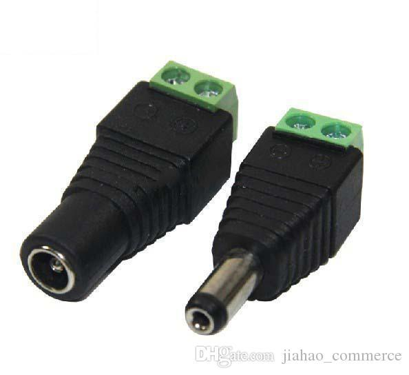 100% new 2.1mm*5.5mm Male & Female DC Power Jack Adapter Connector Plug for CCTV Camera 300 500