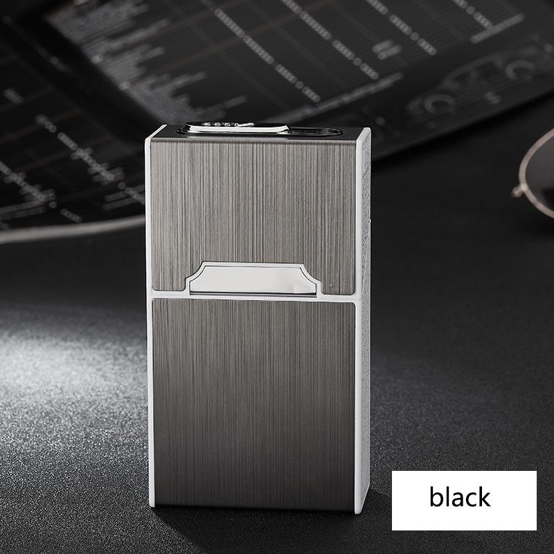Caso Isqueiro do Cigarro eletrônico 20 Varas de Carregamento USB Pulse Pulseira Portátil Soft Personalidade Caixa de Cigarro Criativo Mais Leve