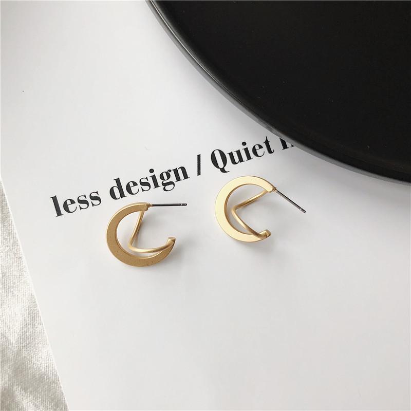 Fashion Femmes INS fille personnalité Acrylique Crescent Drop Dangle Boucles d/'oreilles clous