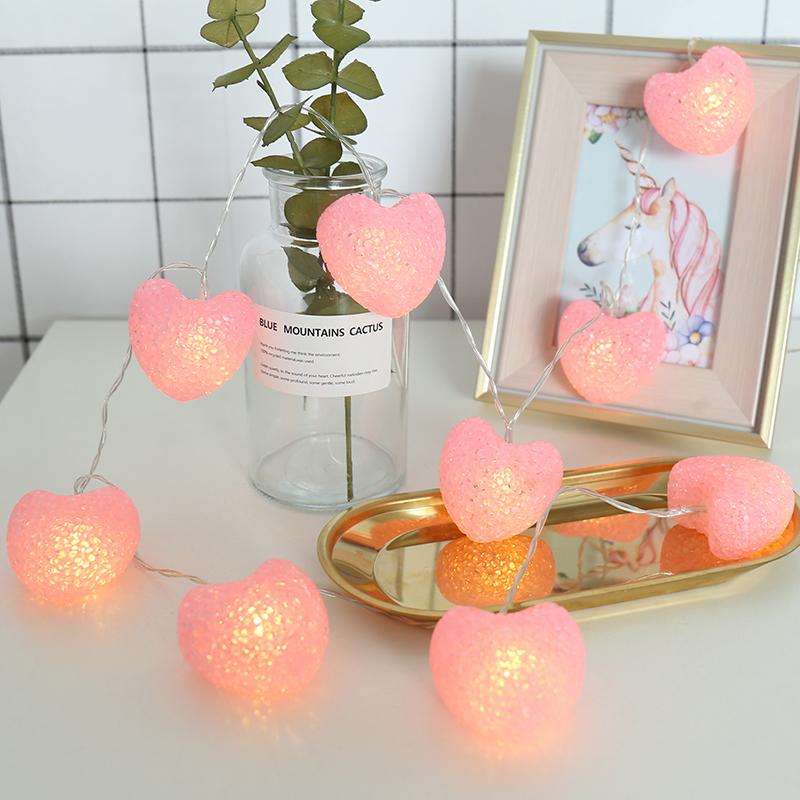 6-M-Rosa-amor-coraz-n-LED-cadena-luces-Garland-bater-a-LED-Hada-luz-vacaciones