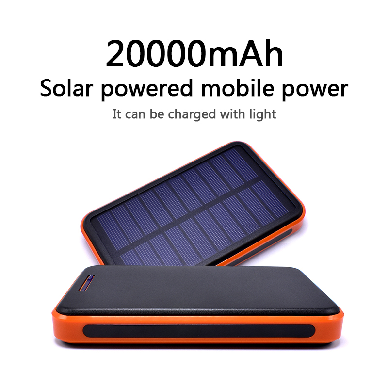 Best Price Waterproof 20000mah Solar power bank Charger External battery LED lighting outdoor Charging PowerBank for Cell phone