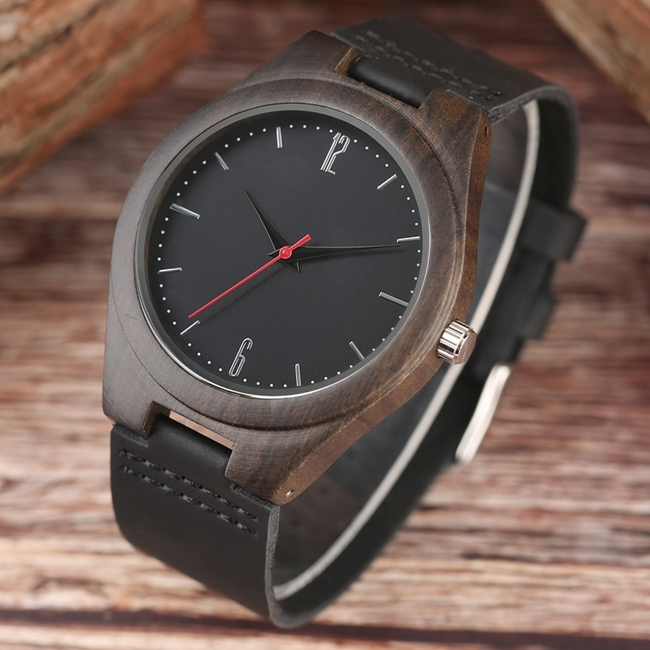 Lovers Gifts Luxury Royal Ebony Wood Watch Mens Fashion Wooden Women Dress Hour Clocks Soft Genuine Leather Relojes Wristwatches 2018 (12)