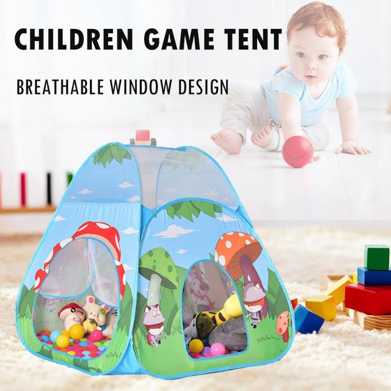 Mushroom Forest Cartoon Teepee Toy Kid Play Tent Boy Girl Princess Castle Indoor Outdoor Kids House Play Ball Pit Pool Playhouse