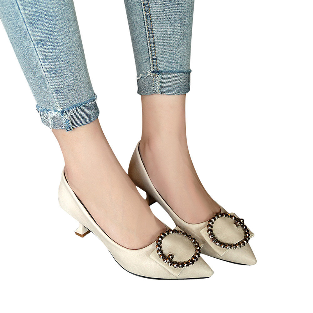 Tasarımcı Elbise Ayakkabı Kadın Sığ Sivri Burun Sandalet Ayak Bileği Yüksek Topuklu Ince Parti Işler Tek T8726