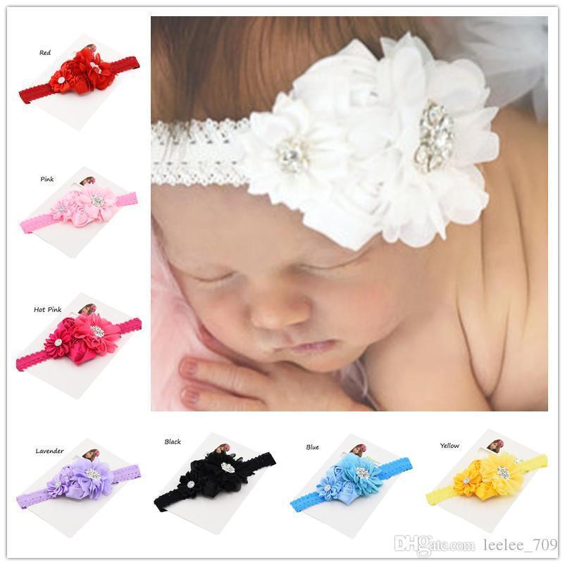 5 unids flor del pelo de la venda del bebé arcos bebé diademas bautizo bautizo regalos lindo bebé Headwear accesorios