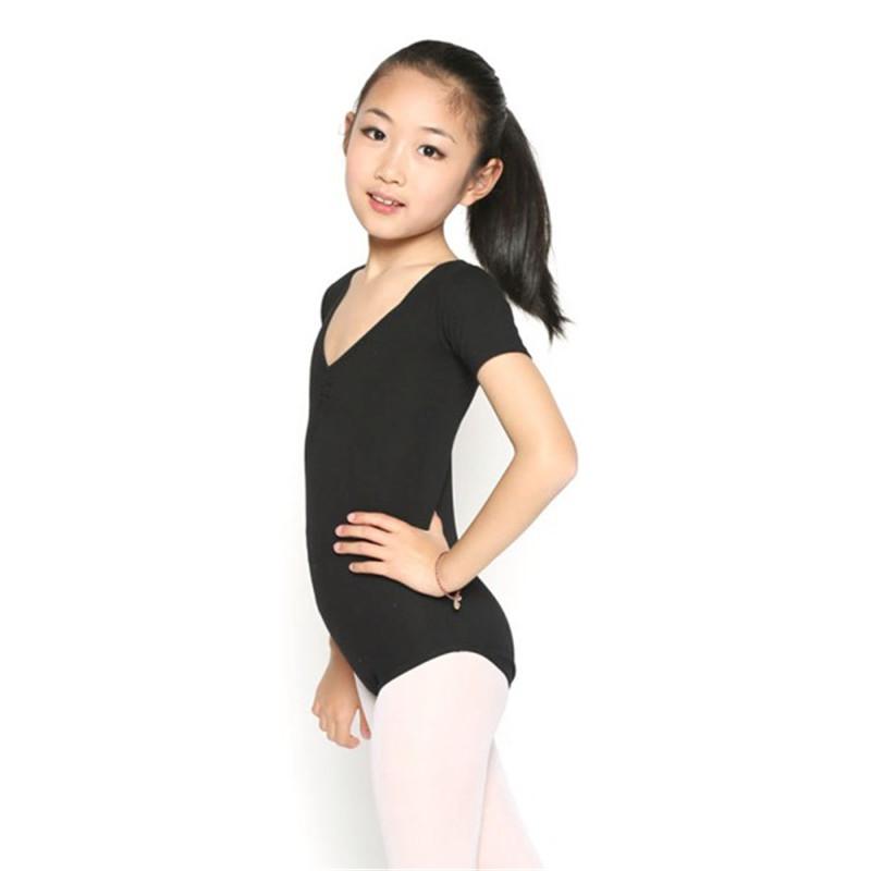 5-10T Kids Girls Gymnastics Ballet Dance Crop Top Shorts Clothes Dancing Wear