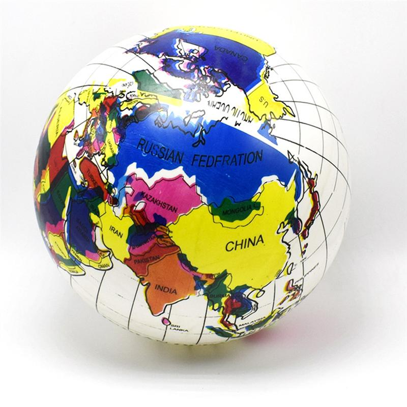 Inflatable Toys Globe Ball Funny Water Fun Play Summer Beach Ball Party Favor Pool Balls for Children Kids Toddler
