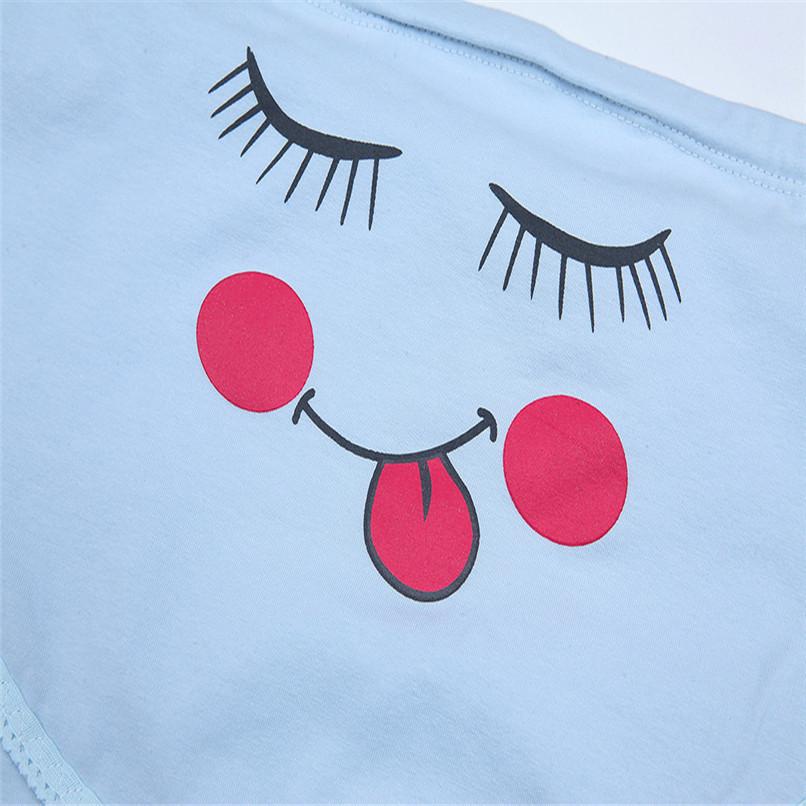 M-XXXL Pregnancy Maternity Clothes Cotton Women Pregnant Smile Printed High Waist Underwear Soft Care Underwear Clothes S14#F (9)
