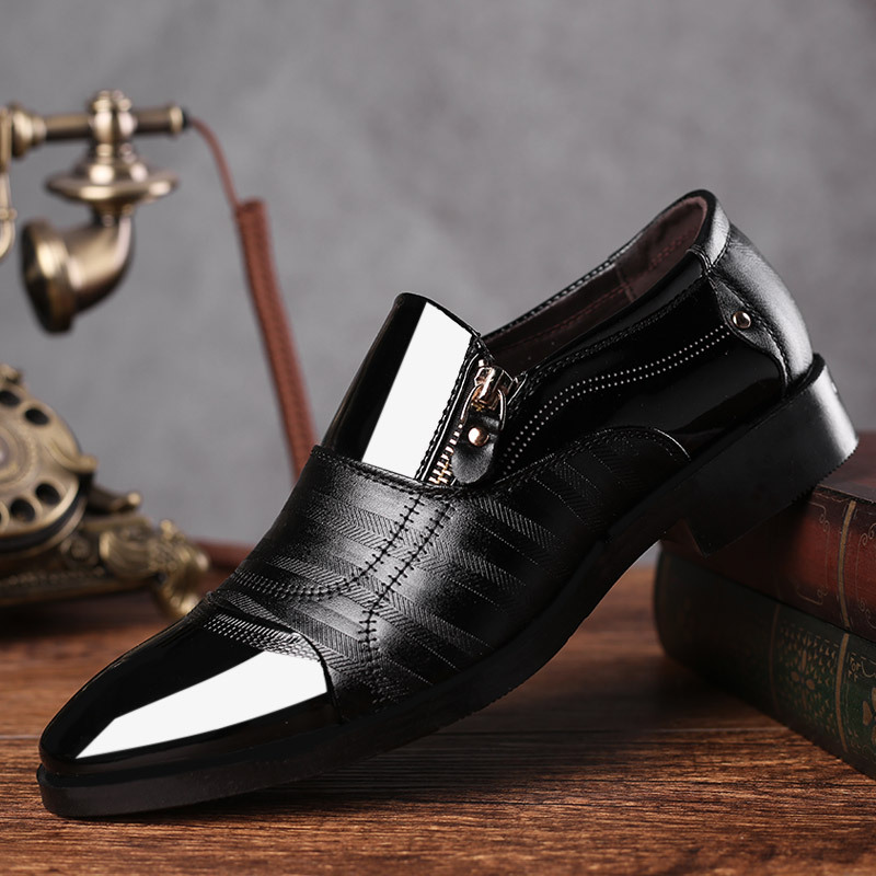 Kezrea Nouveau Mode Oxford Hommes D'affaires Casual Chaussures En Cuir Véritable Printemps Doux Respirant Hommes Flats Zip Chaussures Haute Qualité