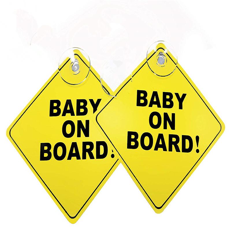 CAR WINDOW SUCKER STICKER BABY ON BOARD WARNING SAFETY SIGN DECORATION NICE FJ