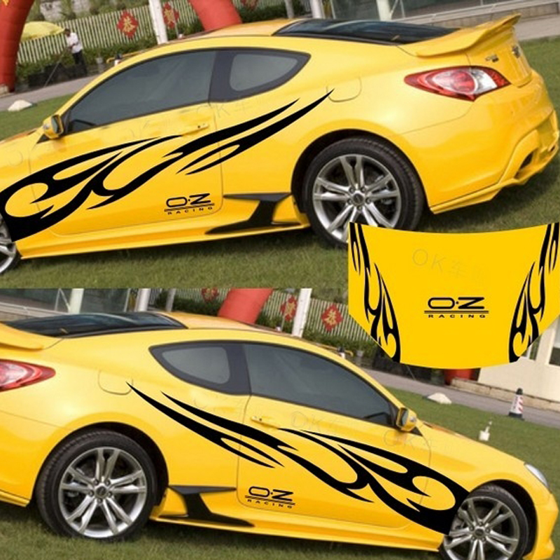 Yellow Reflective Eagle Pattern Car Sticker Decorative Decal for Vehicle Auto