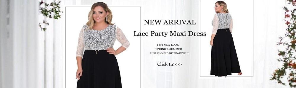 087916b77f5 2019 A Line 5xl 6xl Plus Size Winter Dress Mesh Elegant Women Dress ...