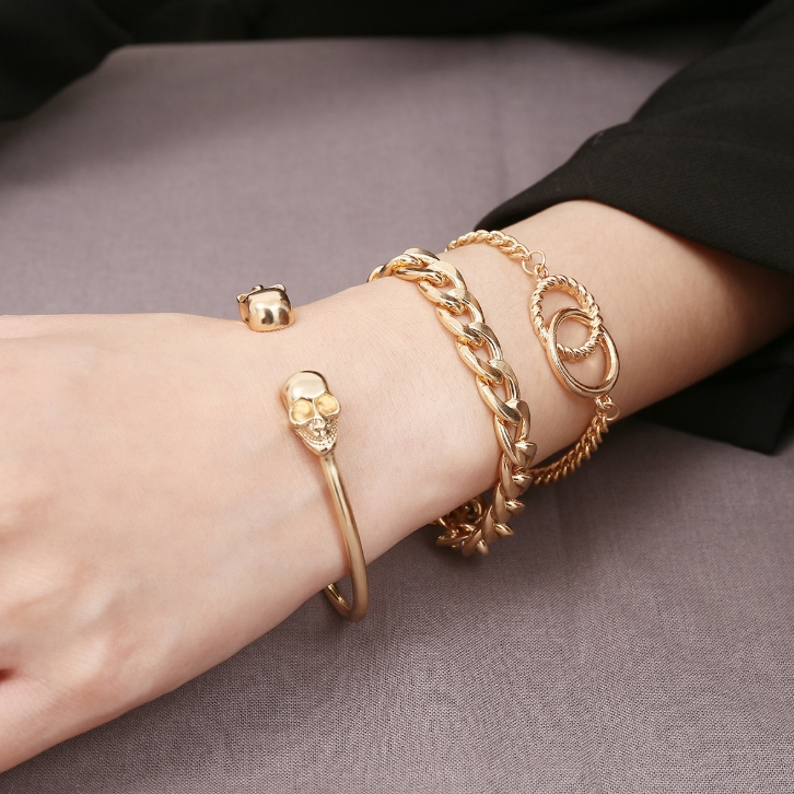 AM/_ Hip Pop Fashion Luxury Exaggerated Men Women Gold Chain Necklace Party Gift