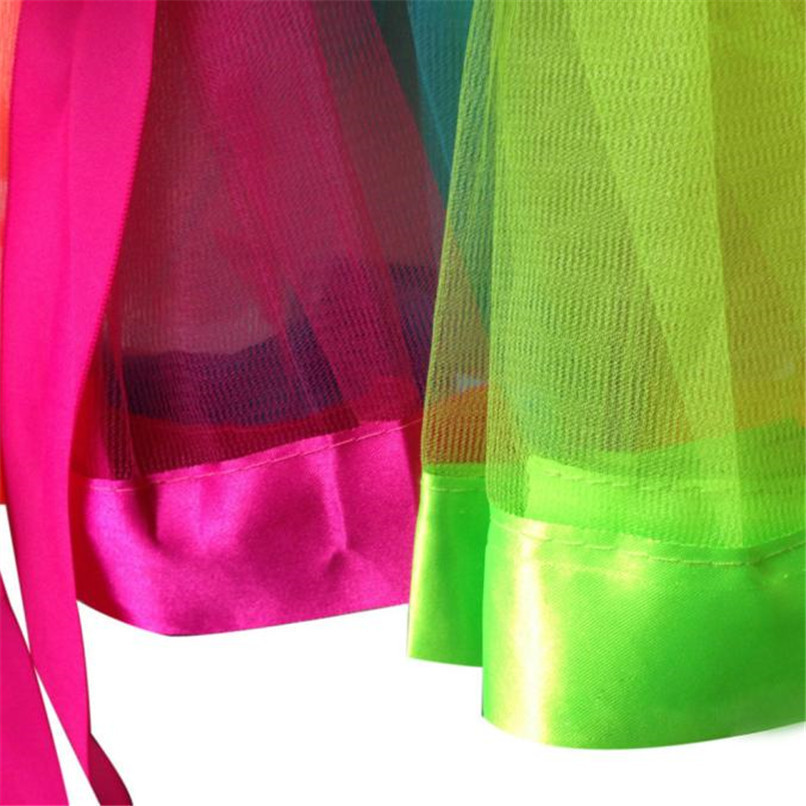 Summer Children Dress Baby Girls Kids Petticoat Rainbow Pettiskirt Bowknot Skirt Tutu Skirts Dance Skirt NDA84L19 (5)