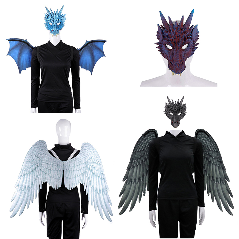 Halloween 3D Dragon Wing Adult Child Dress Up  Mardi Gras Costume Cosplay Props