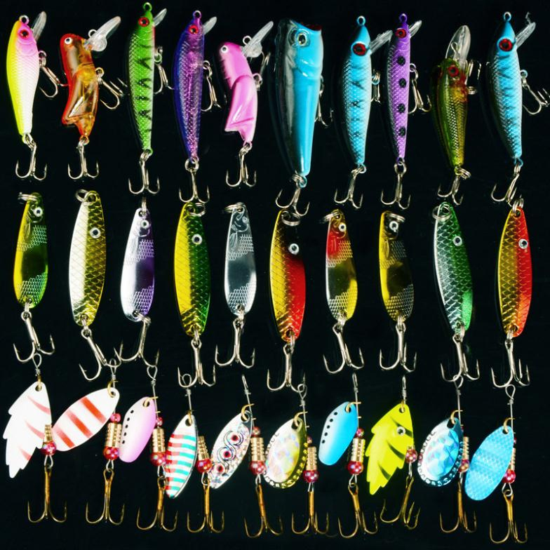 Lots~ 128pcs Fishing Lures Gear Tackle Baits Sets Fish Lure Baits Hooks Kit
