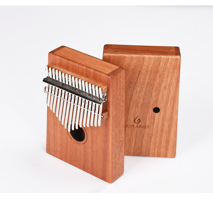 Crazy2019 17 Sound Kalimba Thumb Musical Instrument Blossom Core Lovesickness Wood Veneer Practice Hand Finger Organ