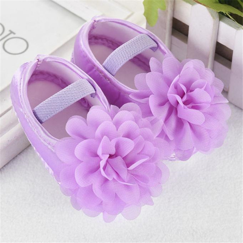 Toddler Kid Baby Girl First Walker Chiffon Flower Elastic Band Newborn Walking Shoes NDA84L16 (14)