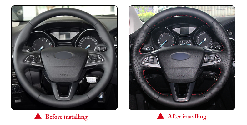 for Ford Focus 3 2015 steering wheel cover