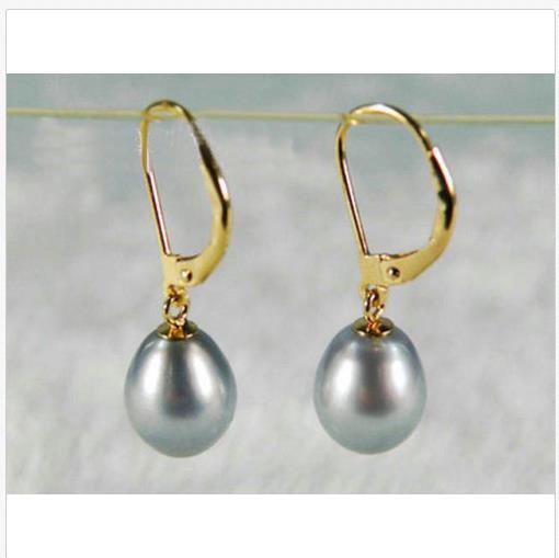 10 MM GRIGIO VERO perle d/'acqua dolce GIOIELLO Orecchini pendenti a farfalla